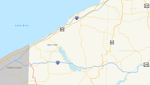 New York State Route 426 - Image: New York State Route 426 map