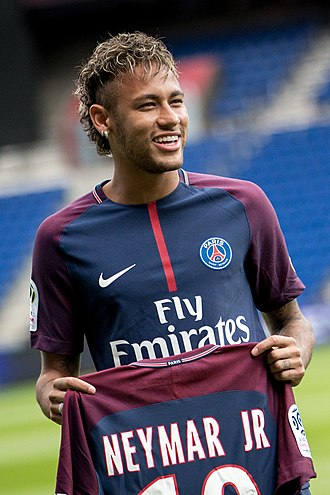 Neymar - Neymar at his Paris Saint-Germain unveiling in August 2017