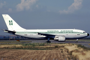 Nigeria Airways A310-200 5N-AUH FCO Aug 1989.png