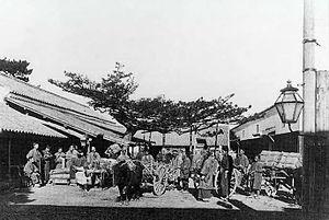 Niihama, Ehime - View of Kuchiya in Niihama in 1881