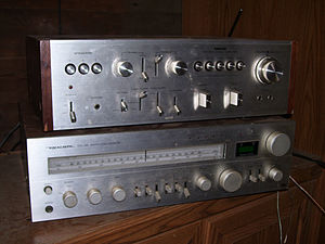 Realistic (brand) - Image: Nikko TRM 800 amp & Realistic STA 240 receiver