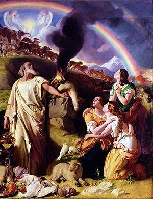 Noah - Noah's Sacrifice by Daniel Maclise
