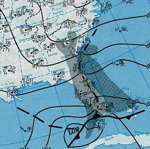 Christmas 1994 nor'easter - Image: Nor'easter 1994 12 21 weather map