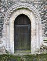Norman north doorway All Saints Church Hawstead Suffolk.jpg