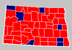 North Dakota gubernatorial election, 1992 - Image: North Dakota Gov 1992