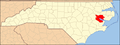 North Carolina Map Highlighting Beaufort County.PNG