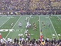 Northwestern vs. Michigan football 2012 14 (Northwestern on offense).jpg