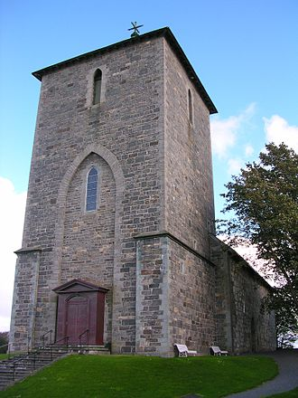 Norway Avaldsnes church overview.JPG