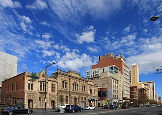 North Terrace, Adelaide - North Terrace, looking south-west from the Museum.