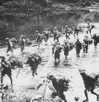 People's Army of Vietnam - Infiltrators on the move in Laos down the Ho Chi Minh Trail.