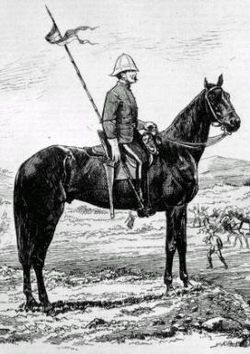 A North West Mounted Police Lancer, 1875.