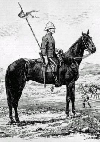 History of Alberta - North-West Mounted Police Lancer, 1875.