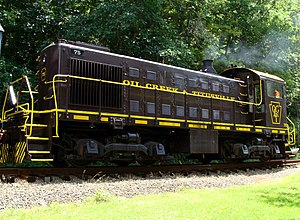 Oil Creek and Titusville Railroad - Image: OC&T 75 at Drake Well