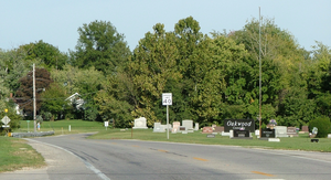 Oakwood, Illinois - Looking east on U.S. Route 150