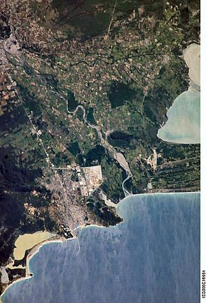 Salina Cruz - Satellite view