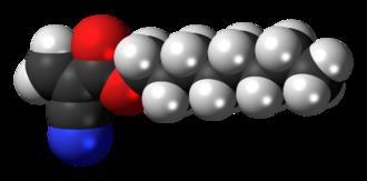 Octyl cyanoacrylate - Image: Octyl cyanoacrylate 3D spacefill