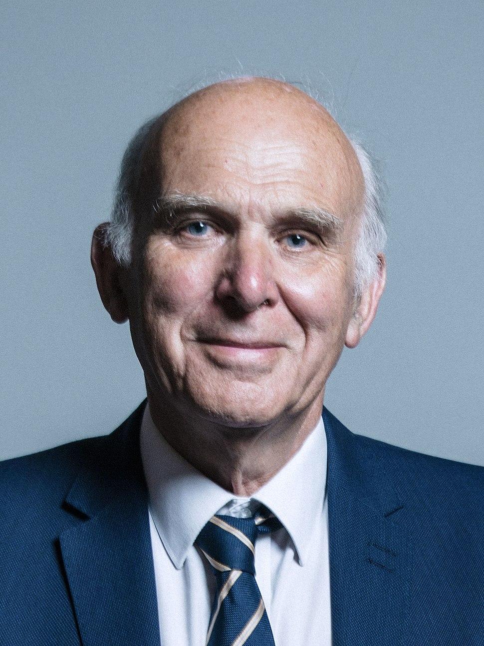 Official portrait of Sir Vince Cable crop 2