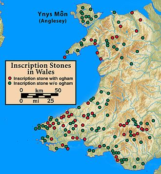 Wales in the Early Middle Ages - Image: Ogham.Inscriptions.W ales