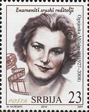 Ognjenka Milićević - Milićević on a 2015 Serbian stamp