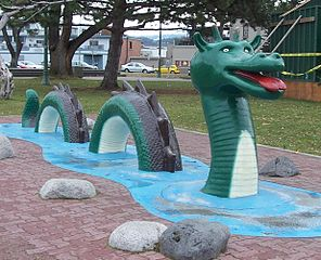 A Statue of an Ogopogo