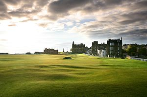 St Andrews Links - The 18th tee at the Home End of the Old Course at St Andrews Links