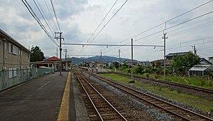 Omaeda Station - Image: Omaeda Station platforms 20170624