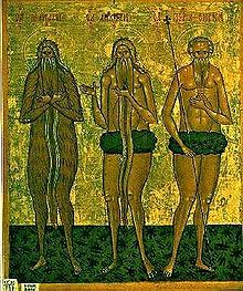 Onuphrius, Macarius of Egypt, and Peter of Athos.jpg