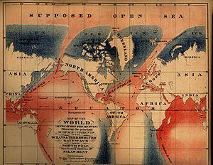 """Open Polar Sea - Silas Bent's 1872 map of the supposed """"Open Polar Sea"""""""