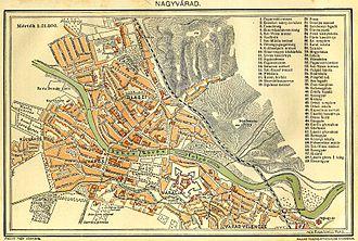 Oradea - Oradea's map in 1897