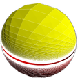 Order-4 square hosohedral honeycomb-sphere.png