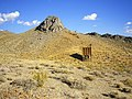 Ore bin below the Estelle Tunnel and the ghost town of Cerro Gordo, Looking S, Inyo Co., CA - panoramio.jpg