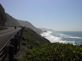 Highway 101 langs de kust van Oregon