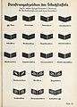 Organisationsbuc00nati orig 0517 ORGANISATIONSBUCH DER NSDAP 1936 Tafel 52 Schutzstaffel SS Uniform Dienstrangabzeichen (rank insignia) Kragenspiegeln (collar patches) Nazi party security forces No known copyright Cropped.jpg