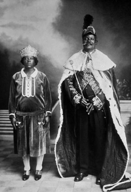 Pedro VII and Isabel, titular Kings of Kongo, pictured in 1934