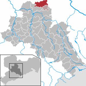 Ostrau, Saxony - Image: Ostrau in FG