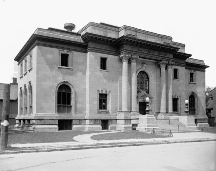 Ottawa Public Library in Ottawa, Ontario; Obtained from Wikimedia Commons; Public domain.