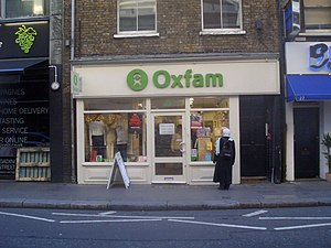 An Oxfam charity shop in Covent Garden, London...