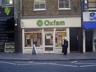 Drury Lane - Oxfam shop on Drury Lane