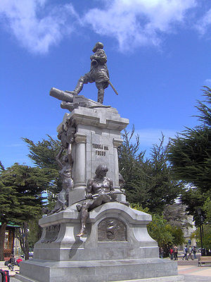 Punta Arenas - Memorial to Ferdinand Magellan in Punta Arenas