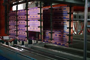 Printed circuit board - PCB copper electroplating line in the process of pattern plating copper