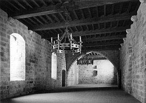 Episcopal Palace, Braga - A view of one of the cavernous halls in the older wings