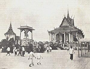 Silver Pagoda, Phnom Penh - Image: Pagoda Norodom 1904 Cambodia
