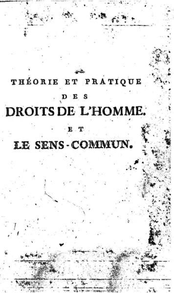 File:Paine - Théorie et pratique des droits de l homme (1793).djvu