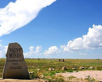 Calhan Paint Mines Archeological District - Image: Paint Mines Interpretive Park, Main entrance