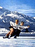 American figure skaters Lucille Ash and Sully Kothman at the 1956 Winter Olympics
