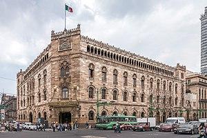 Palacio de Correos de Mexico - View of the Palacio de Correos in Mexico City from the NW