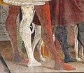 Palazzo schifanoia, salone dei mesi, 04 aprile (f. del cossa), Borso assiste al Palio di San Giorgio e dà moneta al buffone Scoccola 03 cane.jpg