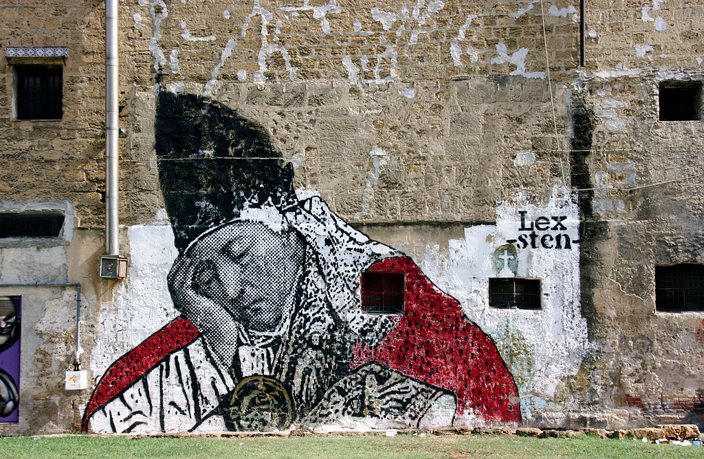 Street art à Palerme - Photo de User:Matthias Süßen
