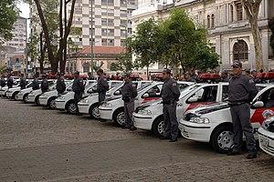Crime in Brazil - Police cars of the São Paulo state police.