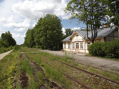 Kuidas ühistranspordiga sihtpunkti Palivere raudteejaam jõuda - kohast